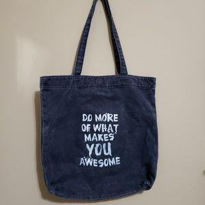 Mossimo tote bag denim-like Do More of What Makes